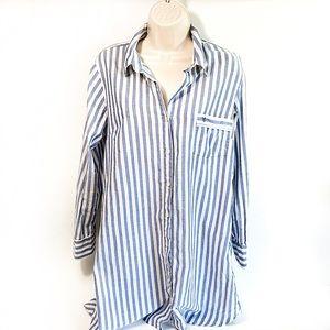 VS Striped Oxford Nightshirt Sz M